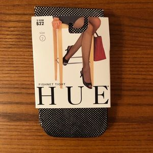 NWT Hue Black Fishnet Tights - Size 2
